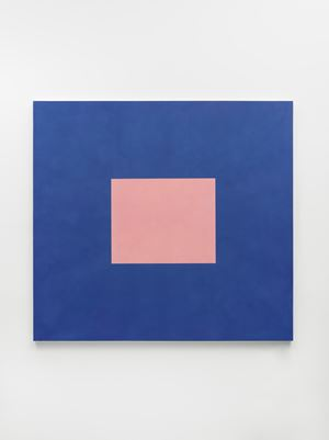 Light Pink with Cobalt Blue by Peter Joseph contemporary artwork