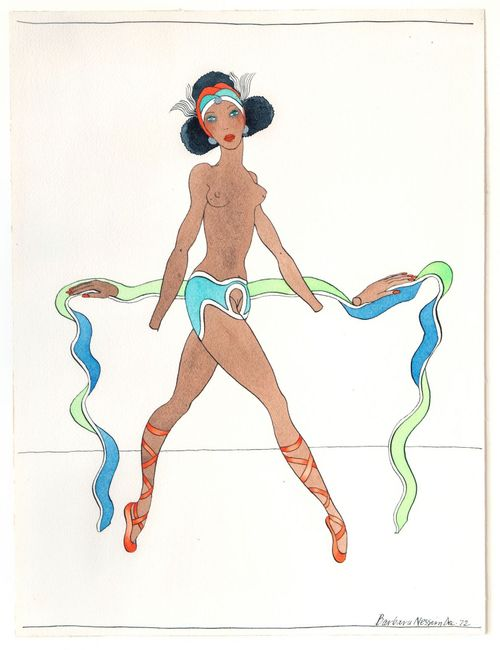 Womangirl with Hands Off by Barbara Nessim contemporary artwork