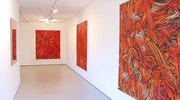 Contemporary art exhibition, Judy Millar, Red Red Orange at Bartley + Company Art, Wellington