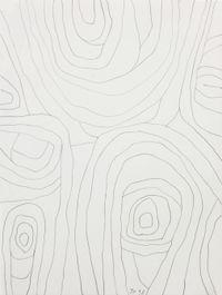 Im Warten das Kreisen II by Jürgen Partenheimer contemporary artwork works on paper