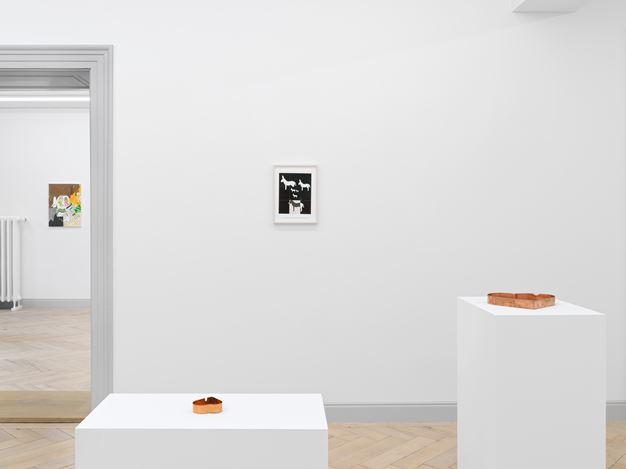 Installation view, Valentin Carron: Un Ami Simple, Galerie Eva Presenhuber, Rämistrasse, Zurich, 2020 Courtesy the artist and Galerie Eva Presenhuber, Zurich / New York Photo: Stefan Altenburger Photography, Zurich
