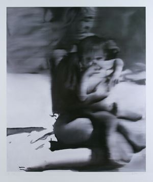 Woman with Child (Frau mit Kind) by Gerhard Richter contemporary artwork
