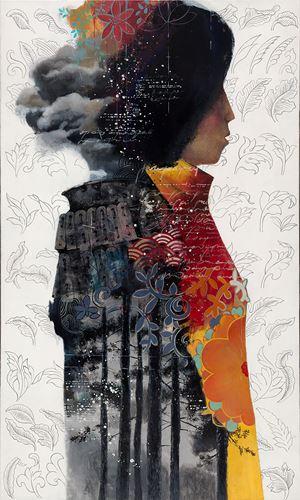 Autumn Legends by Zorikto Dorzhiev contemporary artwork