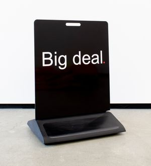 Big Deal by Elisabeth Pointon contemporary artwork sculpture, installation