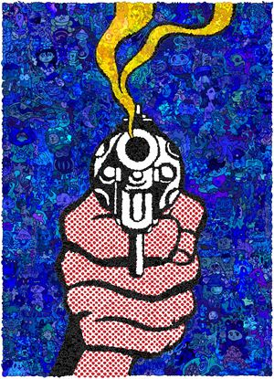 MMNT-MR Blue Gun by Keita Sagaki contemporary artwork