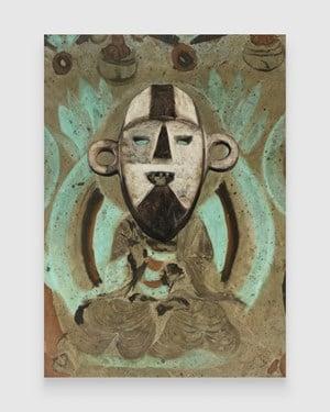 Evolution–North Wall of Mogao Cave No. 220, Boa Pongdudu Mask by XU ZHEN® contemporary artwork