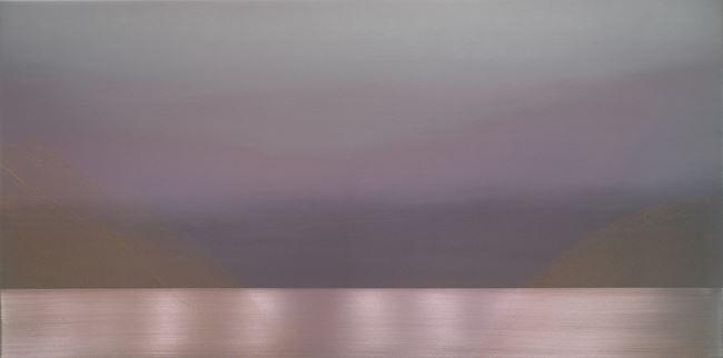 Pink Gold Drift by Miya Ando contemporary artwork