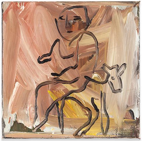 Mann Auf Schaf by Walter Dahn contemporary artwork