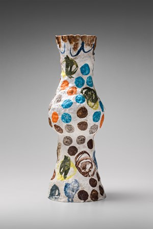 Tall vase by Stephen Benwell contemporary artwork