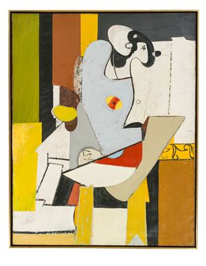 Blue Figure in Chair by Arshile Gorky contemporary artwork