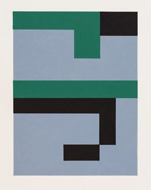 Study for Blue/Green 1 by Gordon Walters contemporary artwork