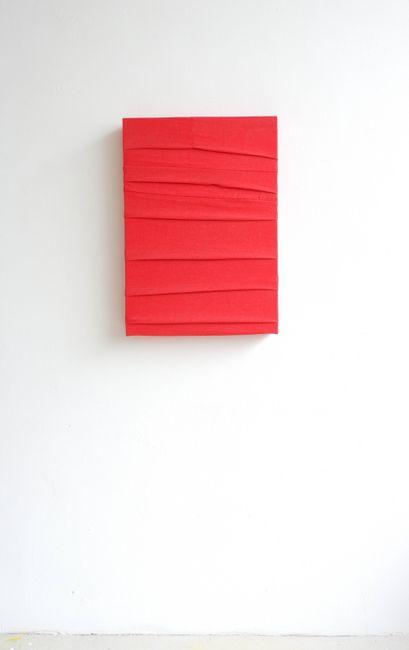 Monochrome (Red) by Angela De La Cruz contemporary artwork