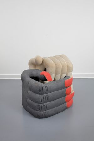 Whispering hands by Elsa Sahal contemporary artwork