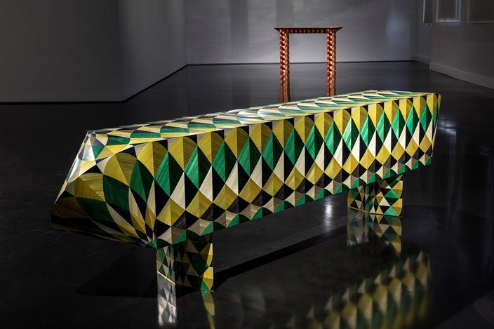 Exhibition view: A&A, Exquisite Corpse / Cadavre Exquis, Tolarno Galleries, Melbourne (12 March–28 March 2020). Courtesy Tolarno Galleries.