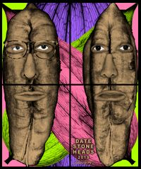 DATE STONE HEADS by Gilbert & George contemporary artwork mixed media