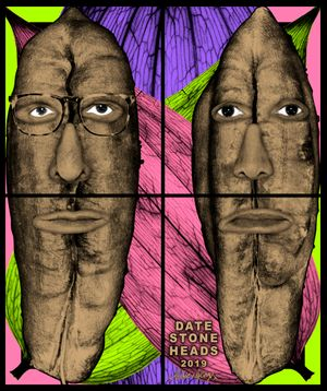DATE STONE HEADS by Gilbert & George contemporary artwork