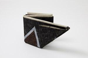 Folded Red/Black by Lynne Eastaway contemporary artwork