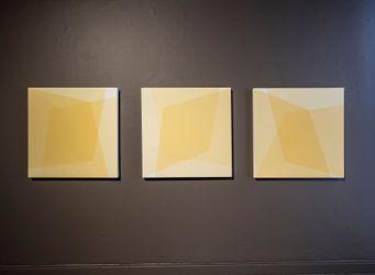 Exhibition view: Onya McCausland, 51º43 33.56 N 3º07 58.63 W, Karsten Schubert London (17 September–14 October 2021). Courtesy Karsten Schubert London.
