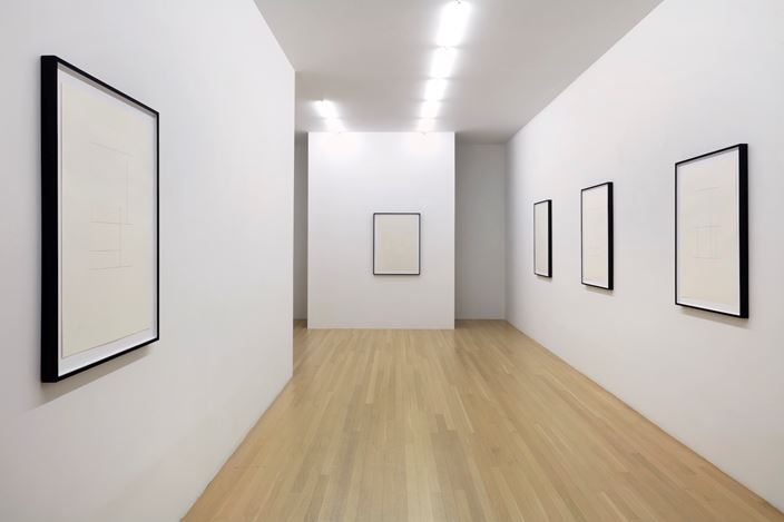 Exhibition view: Mathias Poledna, Indifference, Galerie Buchholz, New York (6 February–29 February 2020).  Courtesy Galerie Buchholz Berlin/Cologne/New York.