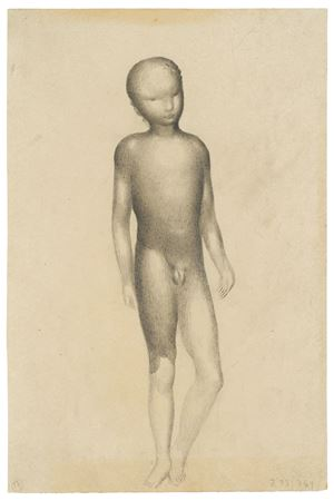 Nude boy (study for algraphy) by Otto Meyer-Amden contemporary artwork