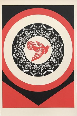 Rise from the Ashes (Red) by Shepard Fairey contemporary artwork