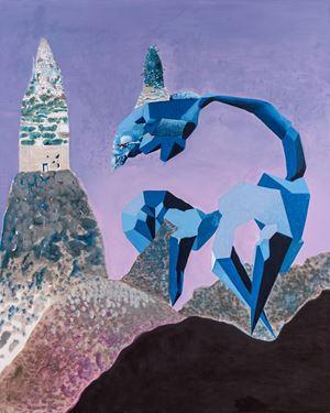 Al Araba Al Madfuna, Painting by Wael Shawky contemporary artwork