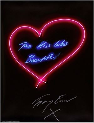 The Kiss Was Beautiful by Tracey Emin contemporary artwork