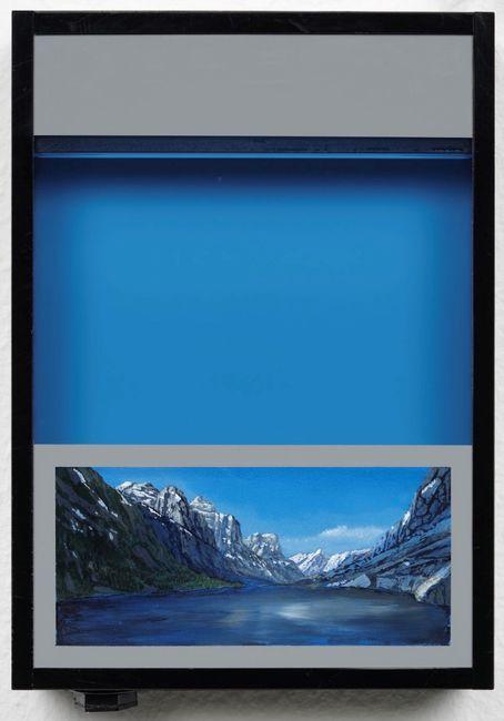 Pocket vacation box - Compose Blue by Naoya Inose contemporary artwork