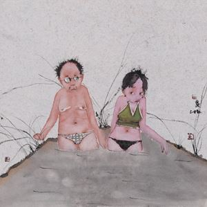 Weekend by Liu Qinghe contemporary artwork painting, works on paper, drawing