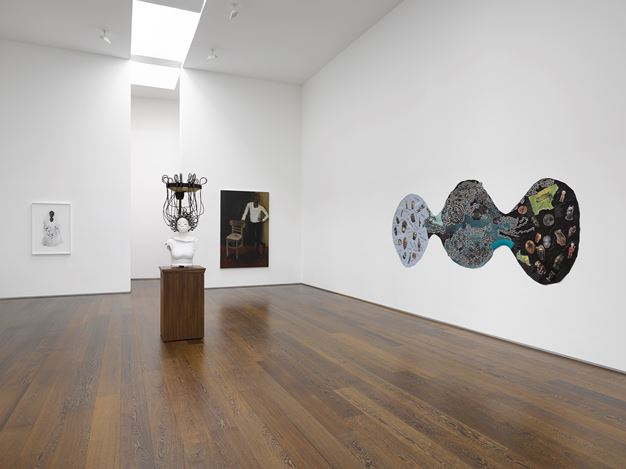 Exhibition view: Group Exhibition, Rock My Soul, Victoria Miro, Wharf Road, London (2 October–2 November 2019). © The artists. Courtesy the artists and Victoria Miro.