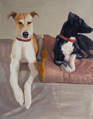 Storm and Cookie by Fiza Khatri contemporary artwork