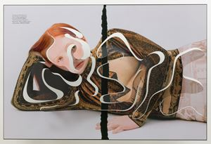 ONE-LINER V (Separation Redhead) by Amie Dicke contemporary artwork