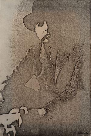 Autoportrait by Mimmo Rotella contemporary artwork