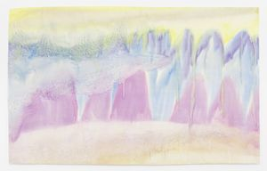 landschaft by Miriam Cahn contemporary artwork painting, works on paper