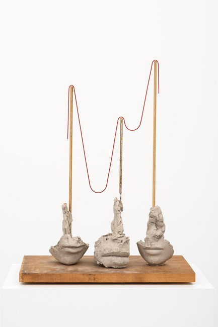 Still Life With Thin Red Rope by Mark Manders contemporary artwork