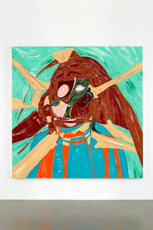Square Self Portrait by Nicola Tyson contemporary artwork