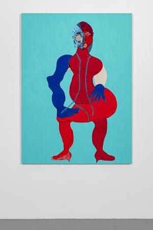 Seated by Tschabalala Self contemporary artwork