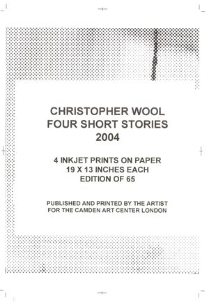 Four Short Stories by Christopher Wool contemporary artwork