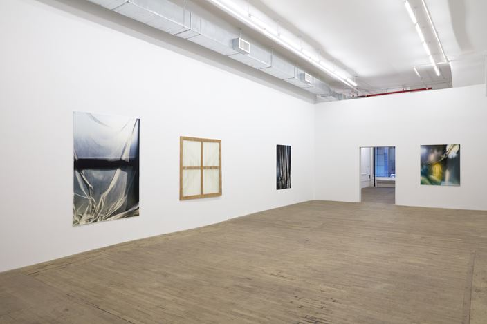 Exhibition view: Group Exhibition, Carla Accardi and Elisa Sighicelli, Andrew Kreps Gallery, 55 Walker Street, New York (4 December 2020–16 January 2021). Courtesy  the Archivio Accardi Sanfilippo, Artist, Andrew Kreps Gallery, New York, Bortolami Gallery, New York, and kaufmann repetto, New York and Milan. Photo: Kristian Laudrup.