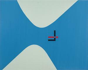 El Lissitzky Monogram by David Diao contemporary artwork
