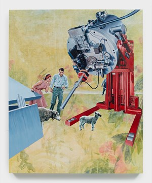 A Couple, Sheep, and Machine by Jim Shaw contemporary artwork