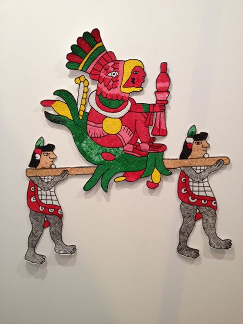 Tudela en traje de Chinelo – Flores que embriagan by Mariana Castillo Deball contemporary artwork