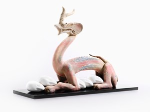 Eternity-Six Dynasties Period Painted Earthenware Dragon, Sleeping Muse * by XU ZHEN® contemporary artwork