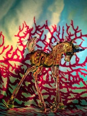 Sanguine Unicorn by Fiona Pardington contemporary artwork