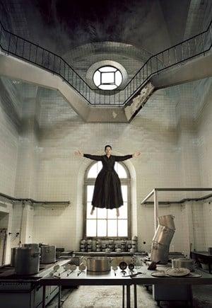 The Levitation of Saint Therese by Marina Abramović contemporary artwork moving image