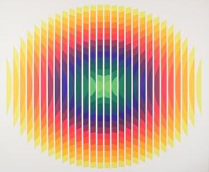 Série 14 - 2 Ovale fractionné by Julio Le Parc contemporary artwork