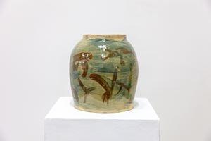 Landscape with figure (山水人物 小罐) by Peng Yu contemporary artwork