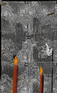 Candles (from the series: Farewelling Junkyard) by Tamara K. E. contemporary artwork mixed media