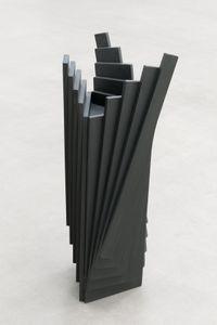 Ausgefächertes farbiges Holzobjekt by Karl-Heinz Adler contemporary artwork sculpture