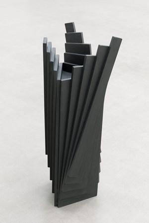 Ausgefächertes farbiges Holzobjekt by Karl-Heinz Adler contemporary artwork